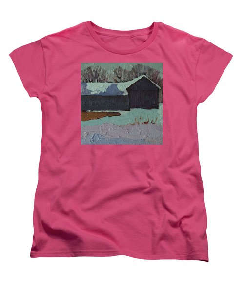 Foley Mountain Farm Women's T-Shirt (Standard Cut) by Phil Chadwick