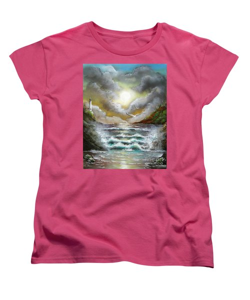 Women's T-Shirt (Standard Cut) featuring the painting Follow The Wind by Patrice Torrillo