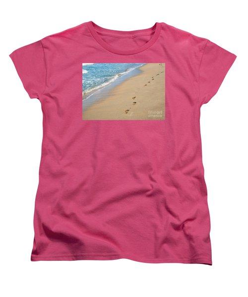 Footprints In The Sand Women's T-Shirt (Standard Cut) by Juli Scalzi