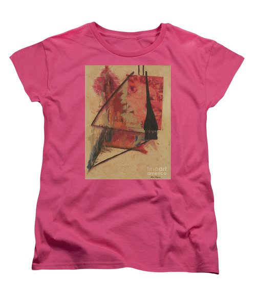 Women's T-Shirt (Standard Cut) featuring the painting Forgive My Tears by Mini Arora