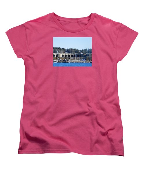 Fort Popham In Maine Women's T-Shirt (Standard Cut) by Catherine Gagne