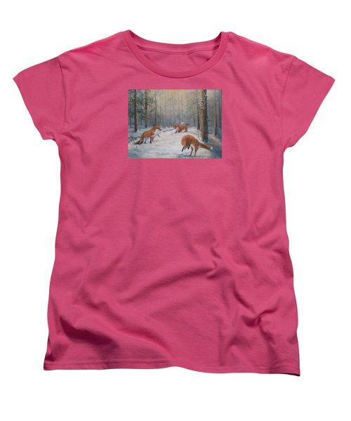 Forest Games Women's T-Shirt (Standard Cut) by Donna Tucker
