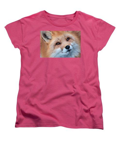 Women's T-Shirt (Standard Cut) featuring the photograph Foxy Lady by Bianca Nadeau