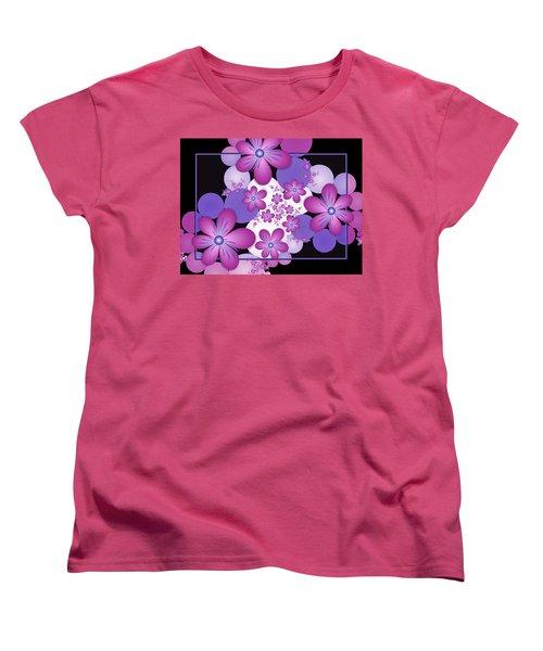 Fractal Flowers Modern Art Women's T-Shirt (Standard Cut) by Gabiw Art