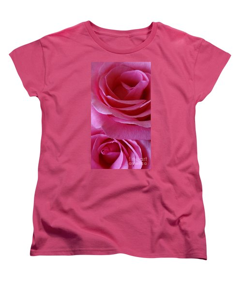 Face Of Roses 3 Women's T-Shirt (Standard Cut) by Gem S Visionary