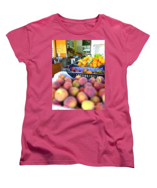 Fresh Fruit Women's T-Shirt (Standard Cut) by Vicki Spindler