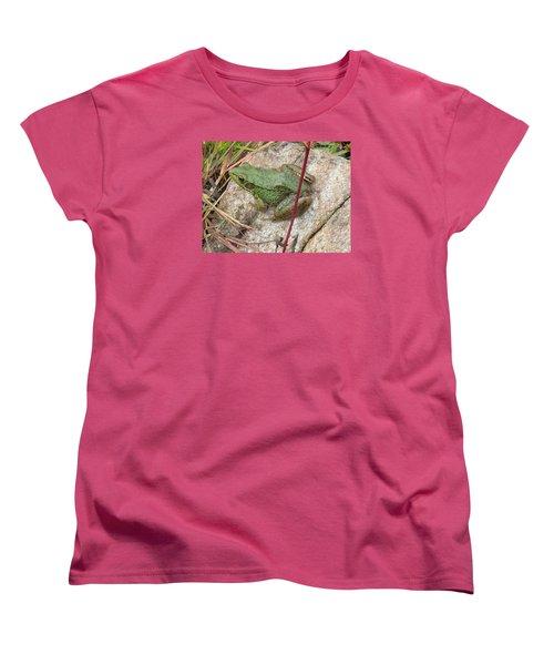 Frog Women's T-Shirt (Standard Cut) by Robert Nickologianis