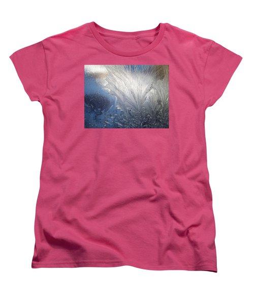 Frost Ferns Women's T-Shirt (Standard Cut) by Joy Nichols