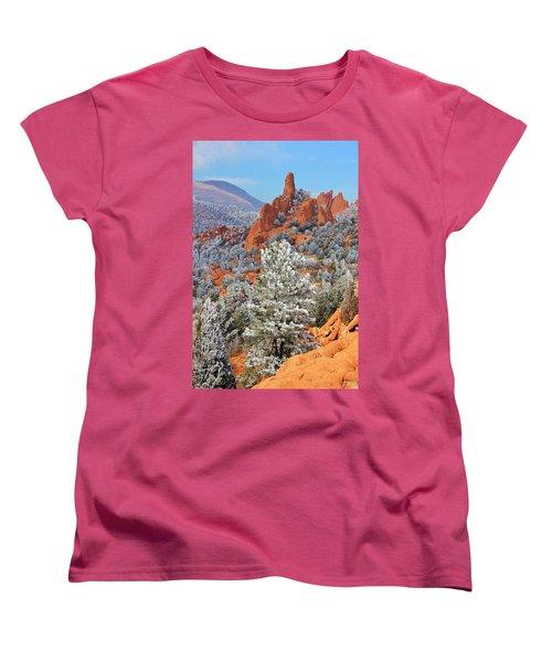 Frosted Wonderland 1 Women's T-Shirt (Standard Cut) by Diane Alexander