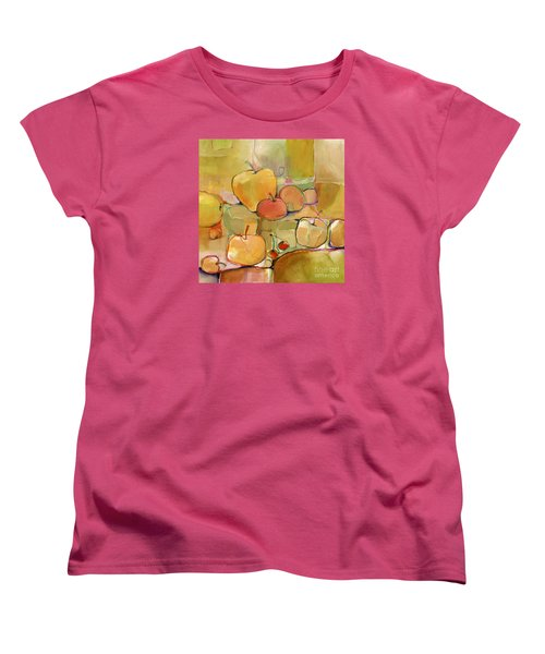 Women's T-Shirt (Standard Cut) featuring the painting Fruit Still Life by Michelle Abrams