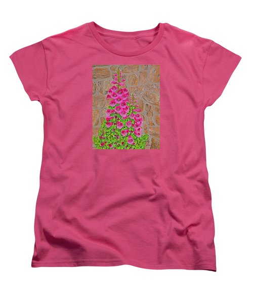 Fuchsia Profusion Women's T-Shirt (Standard Cut) by Donna  Manaraze