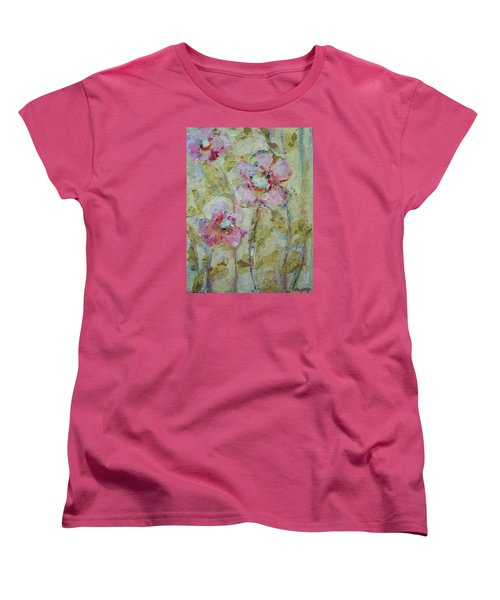 Women's T-Shirt (Standard Cut) featuring the painting Garden Bliss by Mary Wolf