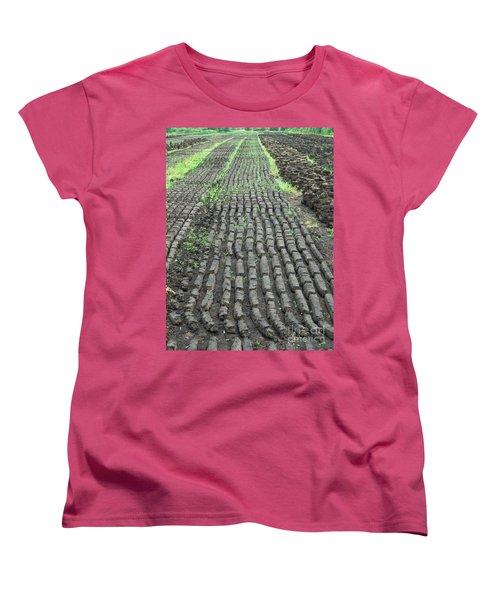 Women's T-Shirt (Standard Cut) featuring the photograph Garden Of Peat by Brenda Brown