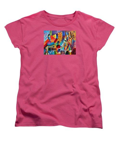 Women's T-Shirt (Standard Cut) featuring the painting Gateway by Jason Williamson
