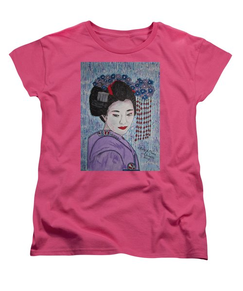 Geisha Girl Women's T-Shirt (Standard Cut) by Kathy Marrs Chandler