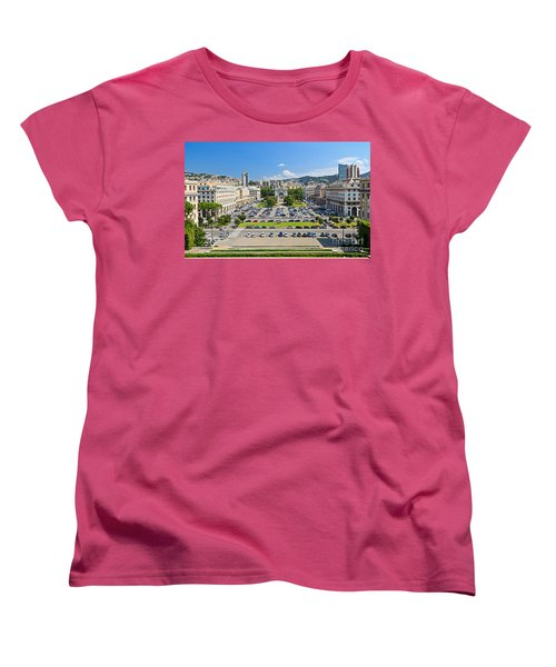 Genova - Piazza Della Vittoria Overview Women's T-Shirt (Standard Cut) by Antonio Scarpi
