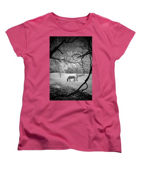 Women's T-Shirt (Standard Cut) featuring the photograph Georgia Horses by Bradley R Youngberg