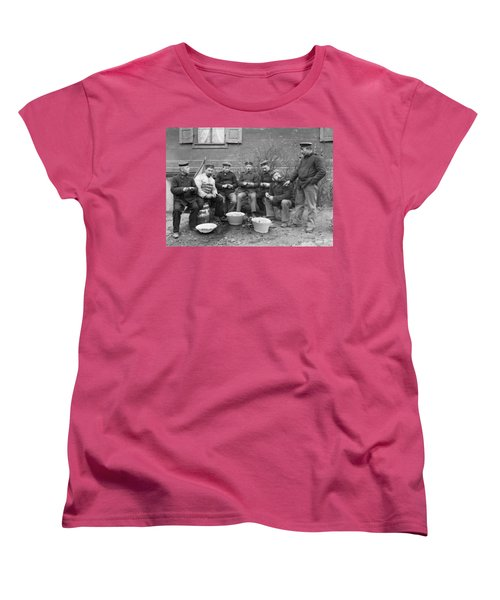 Germans Peeling Potatoes Women's T-Shirt (Standard Cut) by Underwood Archives