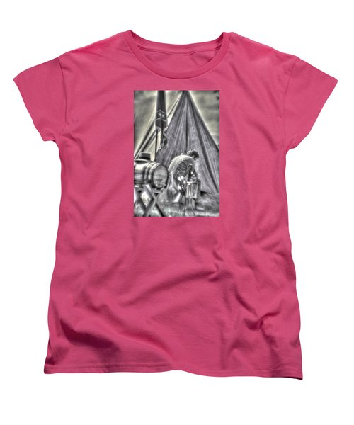 Women's T-Shirt (Standard Cut) featuring the photograph Gettysburg In The Camp - Counting The Losses by Michael Mazaika