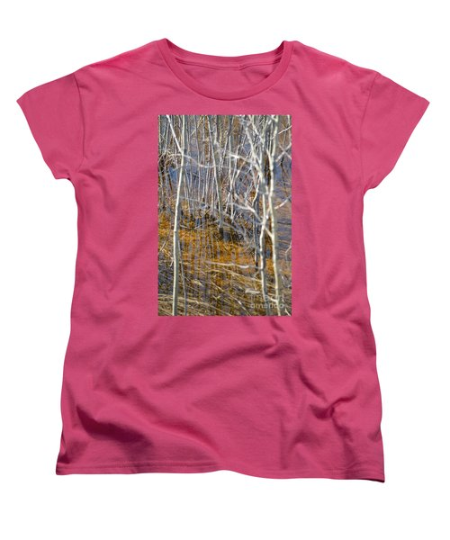 Women's T-Shirt (Standard Cut) featuring the photograph Ghost Willows by Brian Boyle