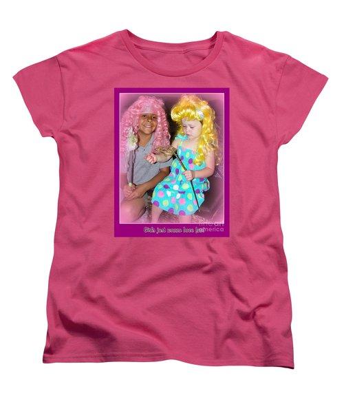 Women's T-Shirt (Standard Cut) featuring the photograph Girls Just Wanna Have Fun by Bobbee Rickard