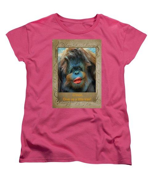 Give Us A Little Kiss Women's T-Shirt (Standard Cut) by Paula Ayers