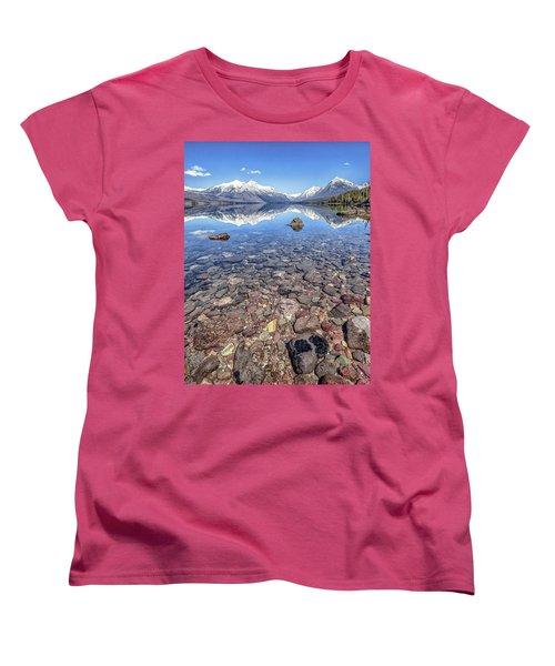 Glacial Lake Mcdonald Women's T-Shirt (Standard Cut) by Aaron Aldrich
