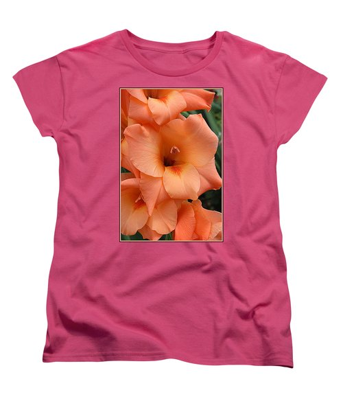 Gladiola In Peach Women's T-Shirt (Standard Cut)