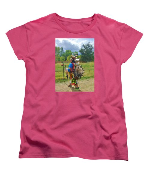 Women's T-Shirt (Standard Cut) featuring the photograph Going To The Pow Wow by Marilyn Diaz