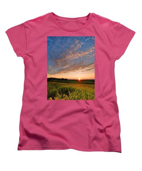 Golden Fields Women's T-Shirt (Standard Cut) by Davorin Mance