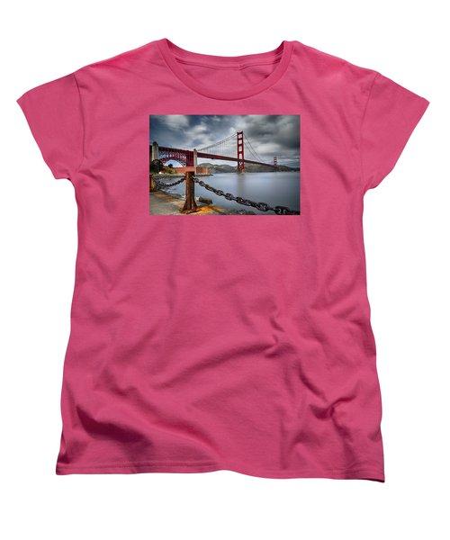 Golden Gate Bridge Women's T-Shirt (Standard Cut) by Eduard Moldoveanu