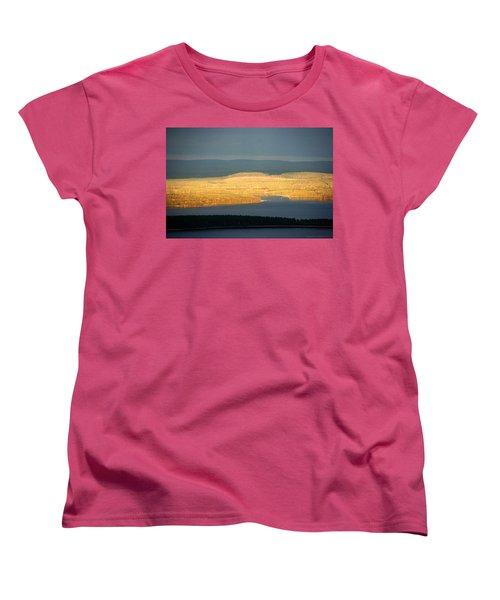 Golden Shores Women's T-Shirt (Standard Cut) by Leena Pekkalainen