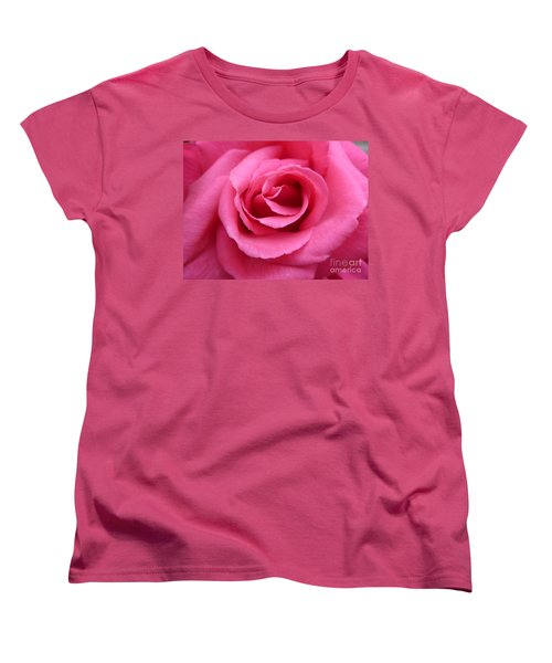 Women's T-Shirt (Standard Cut) featuring the photograph Gorgeous Pink Rose by Vicki Spindler