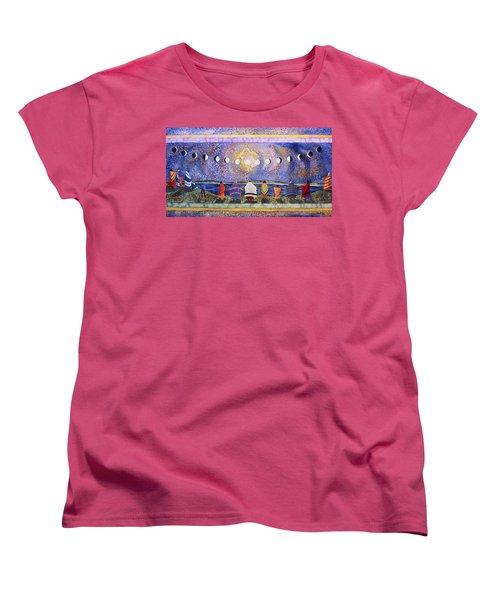 Grandmother Moon Women's T-Shirt (Standard Cut) by Lynda Hoffman-Snodgrass