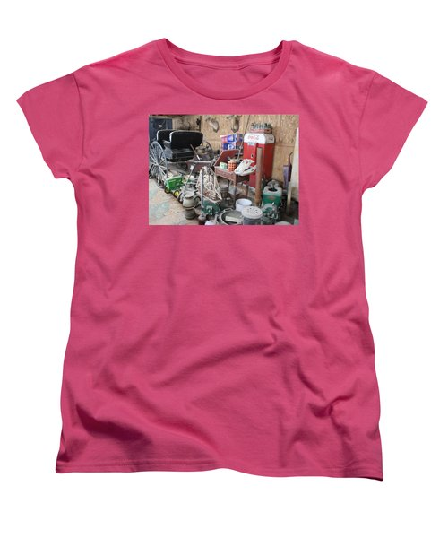 Grandpop's Garage Women's T-Shirt (Standard Cut) by Judith Morris