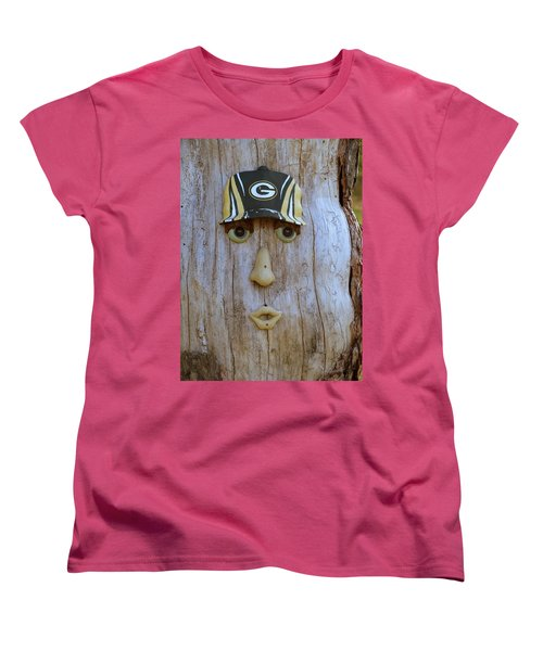 Green Bay Packer Humor Women's T-Shirt (Standard Cut) by Kay Novy