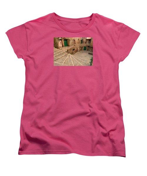 Women's T-Shirt (Standard Cut) featuring the photograph Green Doors by Alan Socolik