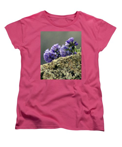 Women's T-Shirt (Standard Cut) featuring the photograph Growing In Granite by Jeremy Rhoades