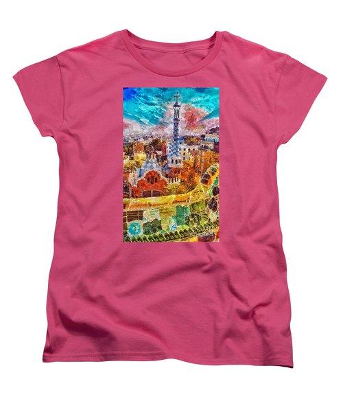 Guell Park Women's T-Shirt (Standard Cut) by Mo T