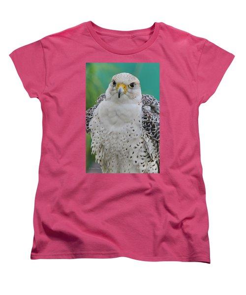 Gyrfalcon Women's T-Shirt (Standard Cut) by Deborah Benoit