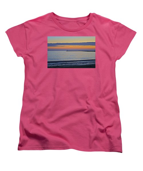 Half Moon Bay Under The Moon At Sunset Women's T-Shirt (Standard Cut)