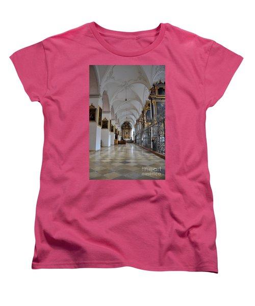 Women's T-Shirt (Standard Cut) featuring the photograph Hallway Of A Church Munich Germany by Imran Ahmed