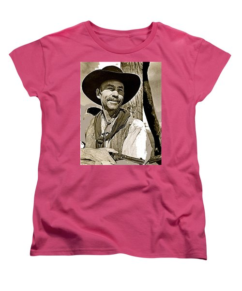 Hank Worden Publicity Photo Red River 1948-2013 Women's T-Shirt (Standard Cut) by David Lee Guss