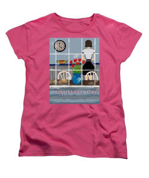 Women's T-Shirt (Standard Cut) featuring the digital art Happy Homemaker by Christine Fournier