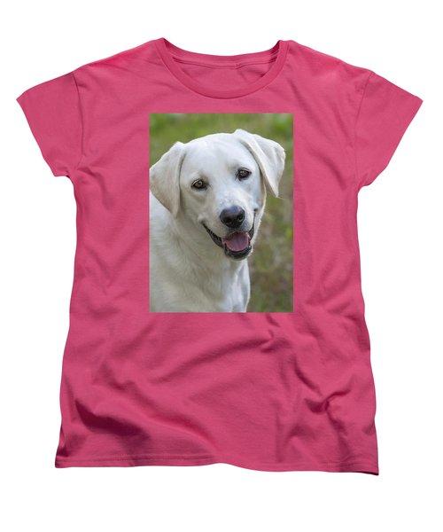 Happy Lab Women's T-Shirt (Standard Cut) by Stephen Anderson