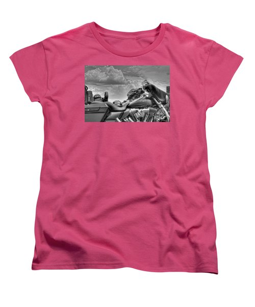 Harley Black And White Women's T-Shirt (Standard Cut) by Ron White