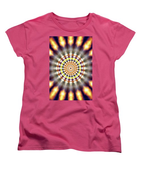 Women's T-Shirt (Standard Cut) featuring the drawing Harmonic Sphere Of Energy by Derek Gedney
