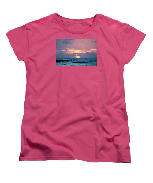 Hawaiian Ocean Sunrise Women's T-Shirt (Standard Cut) by Lehua Pekelo-Stearns