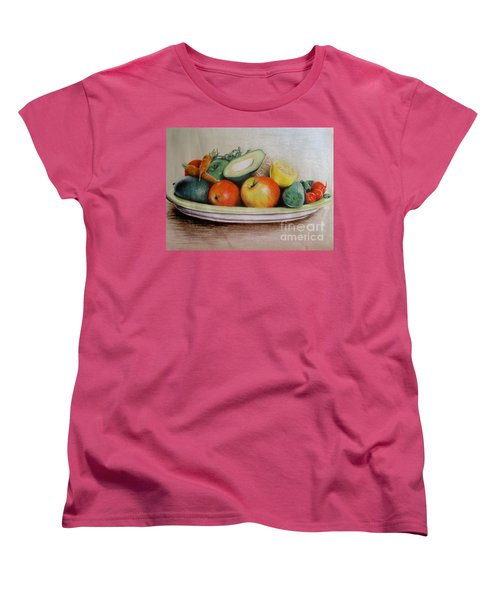 Healthy Plate Women's T-Shirt (Standard Cut) by Katharina Filus