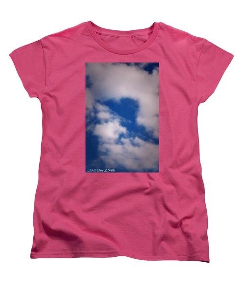 Women's T-Shirt (Standard Cut) featuring the photograph Heart In The Clouds by Tara Potts